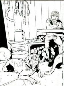 Рон и собака Хагрида раскраска