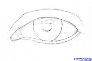 3-1-300x199 Как нарисовать глаза человека карандашом поэтапно