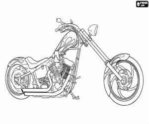 Бесплатная раскраска мотоцикл
