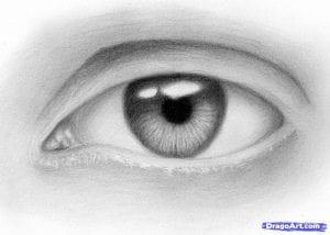 9-1-300x214 Как нарисовать глаза человека карандашом поэтапно