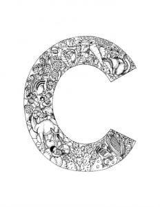 английский алфавит для детей раскраска