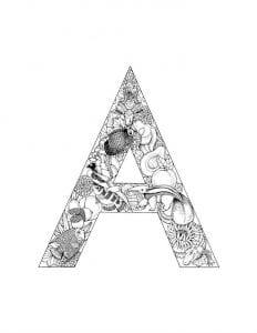 английский алфавит раскраска детей распечатать