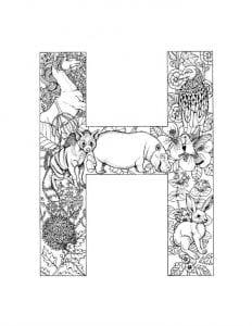 английский алфавит раскраска для детей с картинками