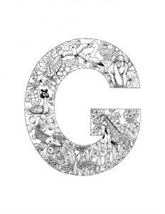 английский алфавит раскраска распечатать