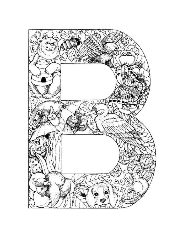 Раскраска в виде буквы