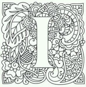 бесплатно английский алфавит раскраска распечатать