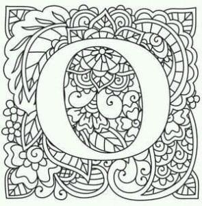 бесплатно английский алфавит раскраска карточки