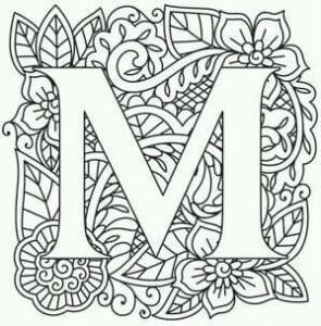 бесплатно английский алфавит раскраска скачать