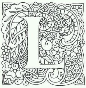 бесплатно английский алфавит раскраска