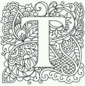 бесплатно английский алфавит раскраски большие буквы
