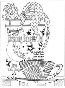 бесплатно чашка чая раскраска