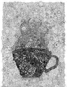 бесплатно чашка картинка раскраска