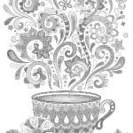 бесплатно чашка раскраска чайная