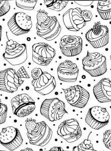 бесплатно для взрослых еда раскраски