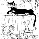 бесплатно гав картинки раскраски котенок по имени