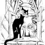 бесплатно гав раскраска котенок по имени