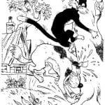 бесплатно гав раскраска распечатать котенок по имени