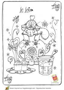 бесплатно картинка раскраска чашка для чая
