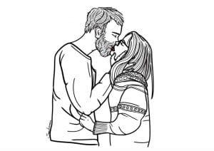 бесплатно картинки раскраски про любовь