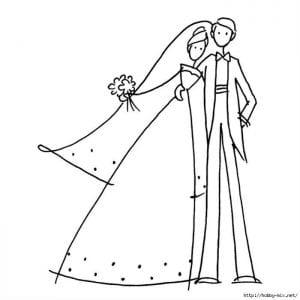 бесплатно картинки раскраски свадьба