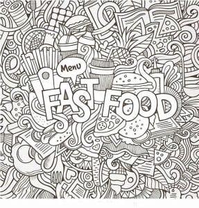 бесплатно на тему еда раскраски