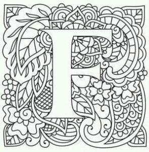 бесплатно раскраска алфавит английских букв