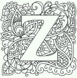 бесплатно раскраска английский алфавит без картинок
