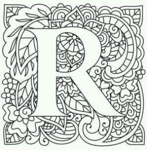 бесплатно раскраски буквы английского алфавита распечатать