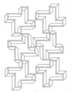 бесплатно раскраски иллюзии распечатать