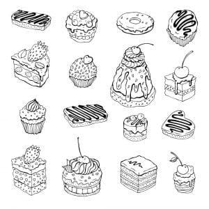 бесплатно раскраски на тему еда и продукты