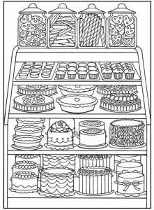 бесплатно раскраски про еду