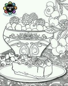 бесплатно распечатать раскраски еда 1