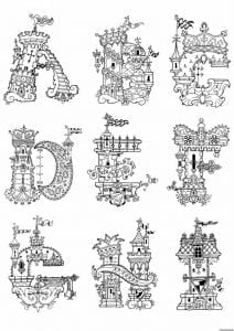 бесплатно рисунок раскраска английский алфавит