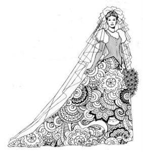 бесплатно свадьба раскраска