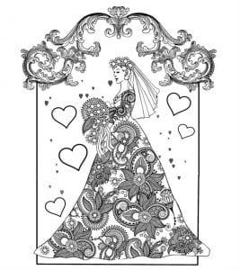 бесплатно жених и невеста свадьба раскраска