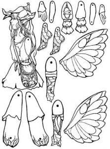 бумажная кукла с набором одежды для вырезания