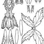 бумажная кукла с одеждой раскраска распечатать бесплатно
