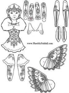 бумажные куклы для вырезания своими руками