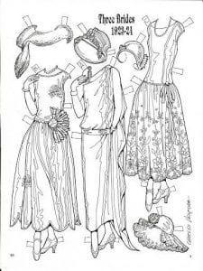 бумажные куклы одеждой бесплатно