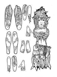 бумажные куклы девочек одеждой распечатать