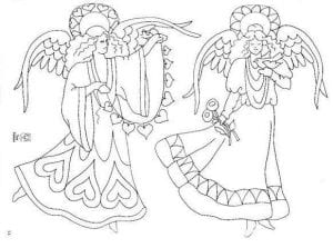 для детей ангел хранитель раскраска бесплатно