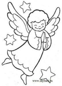 для детей ангел раскраска