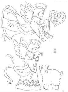 для детей ангел раскраска бесплатно