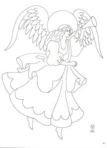 для детей раскраски ангелов православные