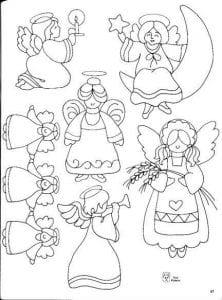 для детей раскраски ангелы картинки