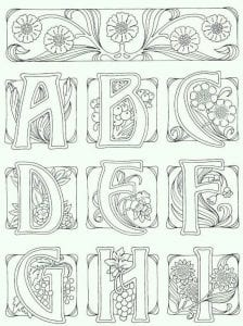 говорящий английский алфавит с раскрасками
