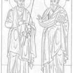 храм православие чудеса божии раскраски церковь 2