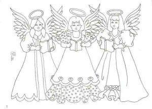 хранитель раскраска ангел бесплатно