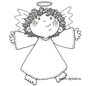 хранитель раскраска для детей ангел