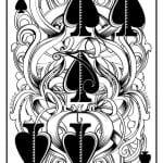 игральные карты раскраска (18)